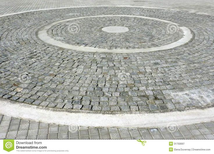 circular paving pattern with straight elements - Buscar con Google