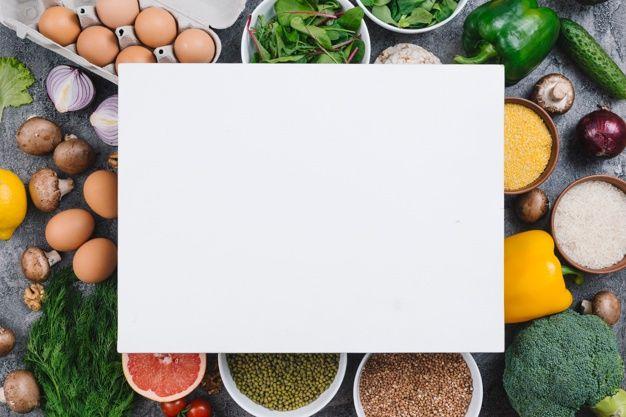 Cartel En Blanco Sobre Las Verduras De Colores Huevos Frutas Y Legumbres Verduras Frutas Y Verduras Imagenes De Nutricion