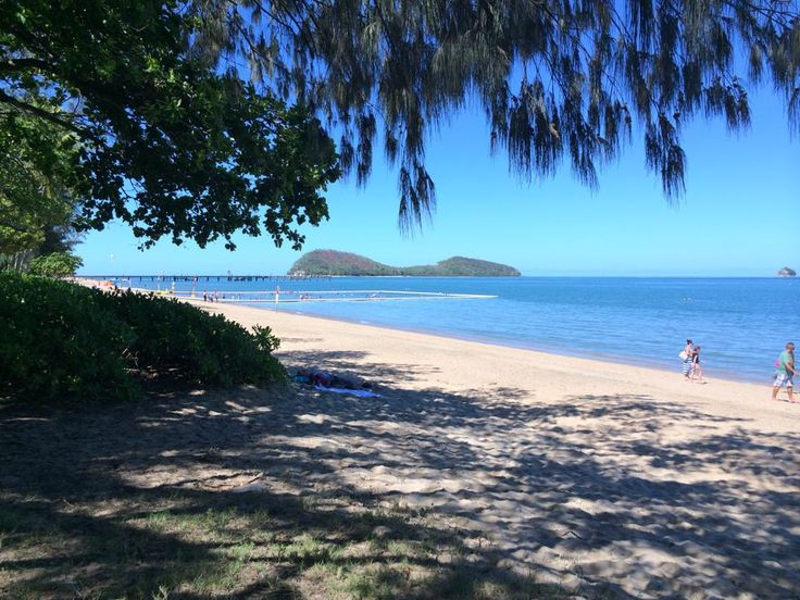 Palm Cove, Cairns, Australia. Great little beach front with shops and restaurants.