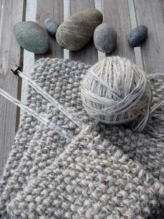 petites choses: Point de riz pour une echarpe quel beau mélange de couleurs!