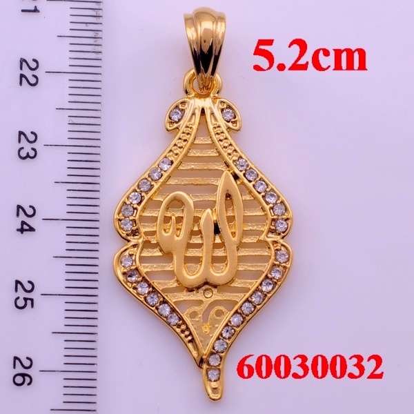Metal allah pendants, Fashionable religious charms jewelry for women and girls,Muslim islamic gifts