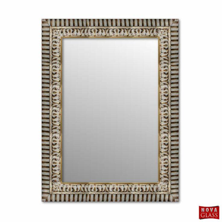 Καθρέπτης τοίχου με χρυσή ξύλινη κορνίζα Νο 462