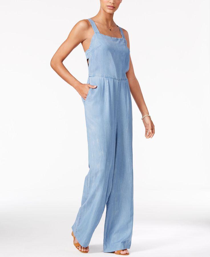 Jessica Simpson Wide-Leg Chambray Jumpsuit