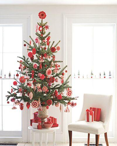 preciosa decoración de arbol para pequeños espacios!  #decoracion, #navidad
