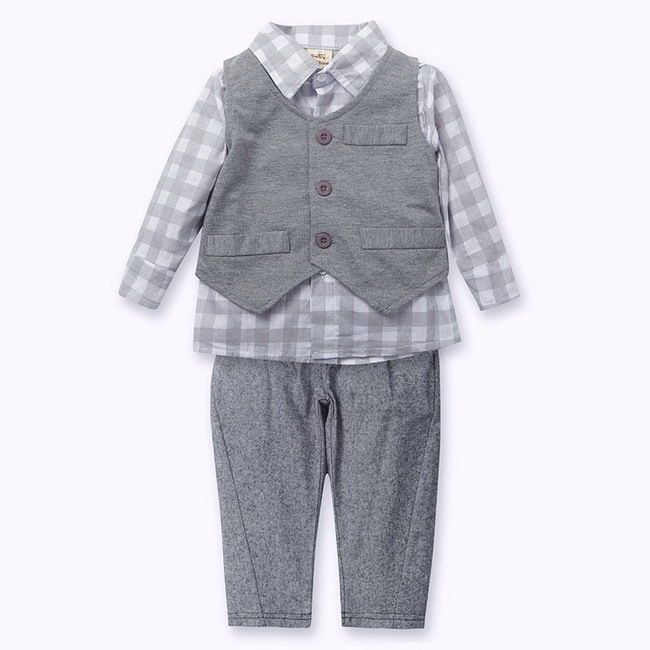 Plaid outfit (trousers vest and shirt), £19.99