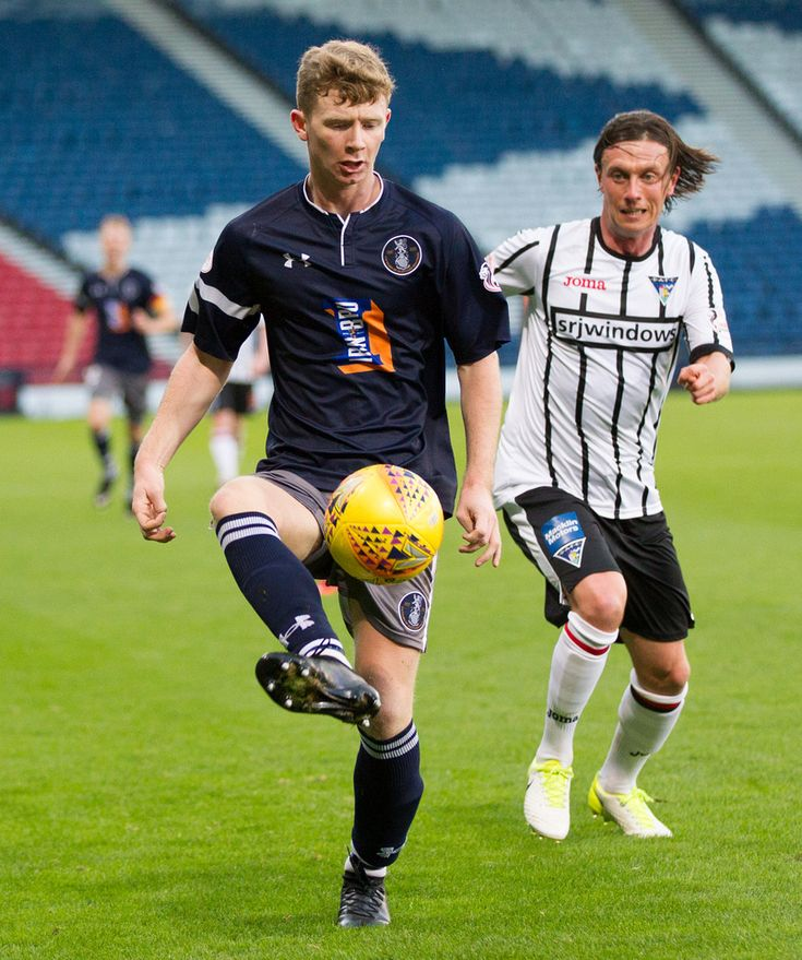 Queen's Park's Dominic Docherty in action during the Scottish Cup 3rd round game between Queen's Park and Dunfermline Athletic.