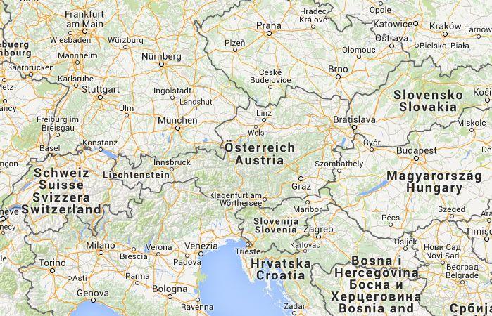 Mapa de Austria                                                                                                                                                      Más