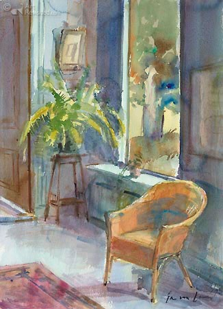 Jan van Loon - Interieur met varen (1995)