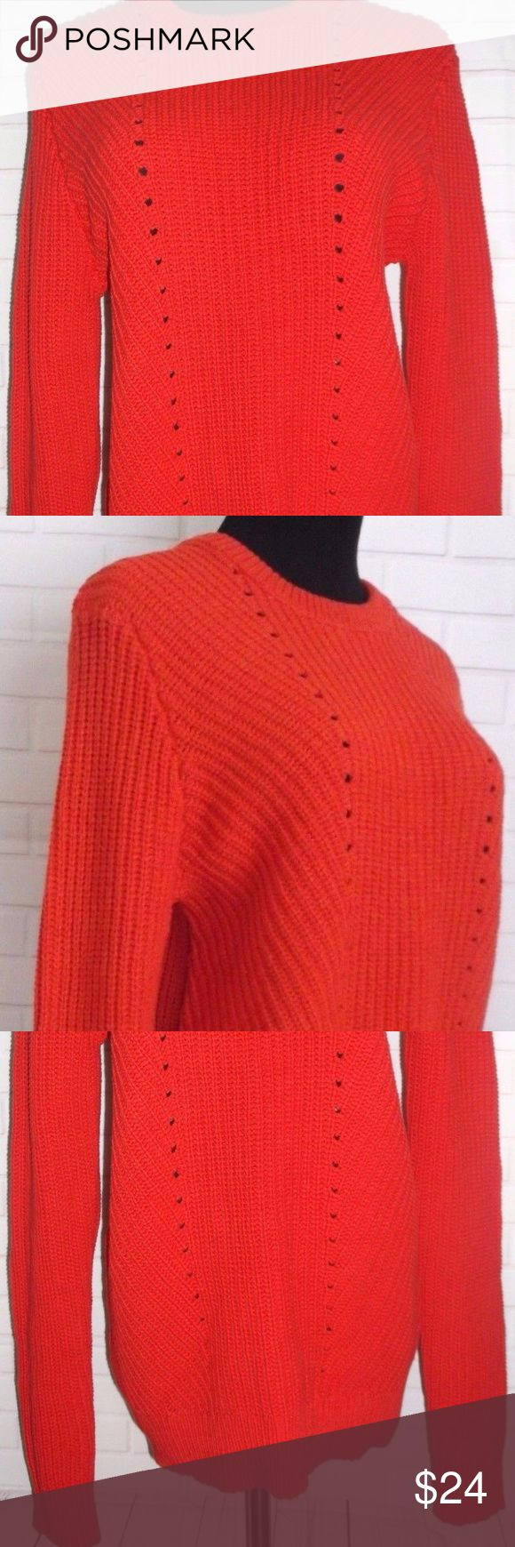 "Women's Zara Man Red Sweater Size Large New without Tags. Excellent condition. 100% Cotton. Measurements: Bust - 19"" Sleeves - 27"" Shoulder to Shoulder - 14.5"" Back Length - 25"" Zara Man Sweaters Crew & Scoop Necks"