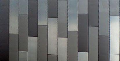 Tri-Color Petina zinc panels