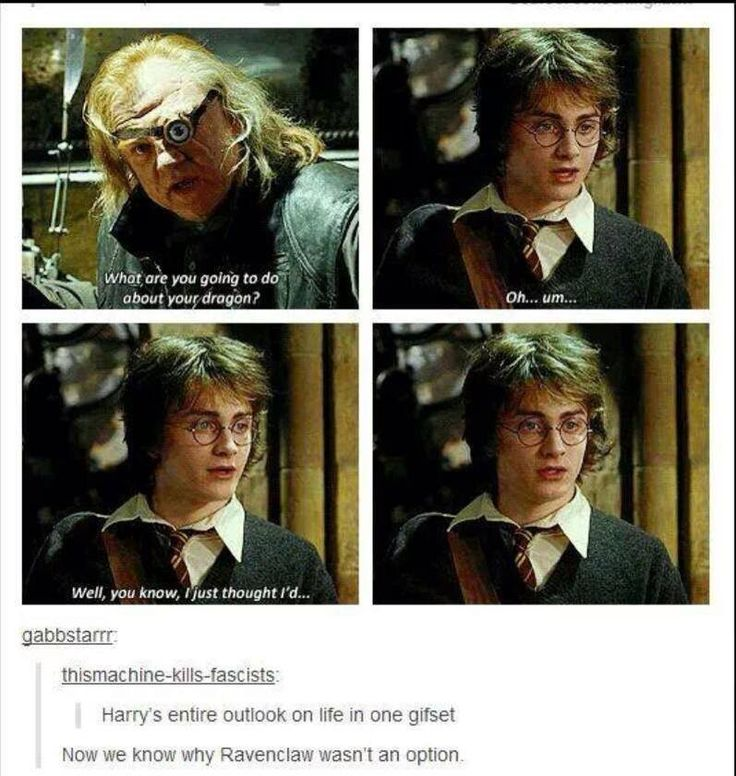 this is why you arent a ravenclaw harry