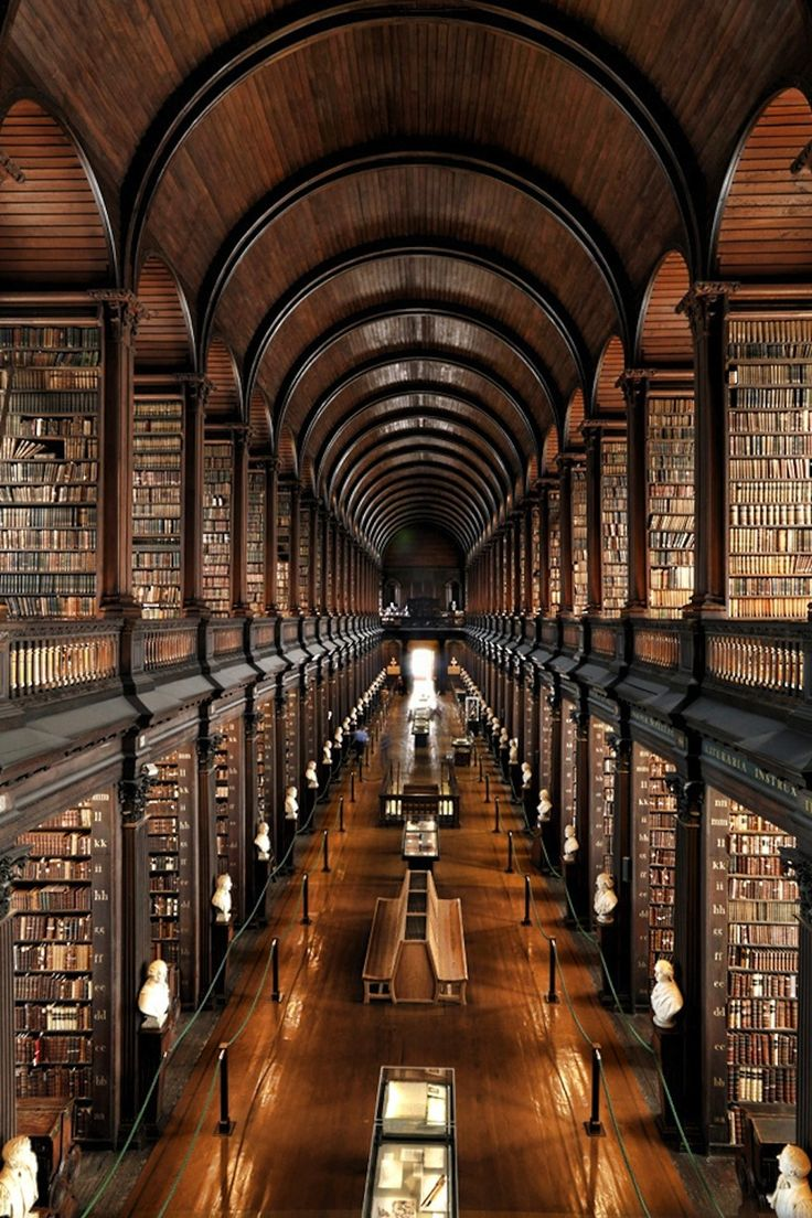 Trinity College Library, Dublin - the largest library in Ireland.