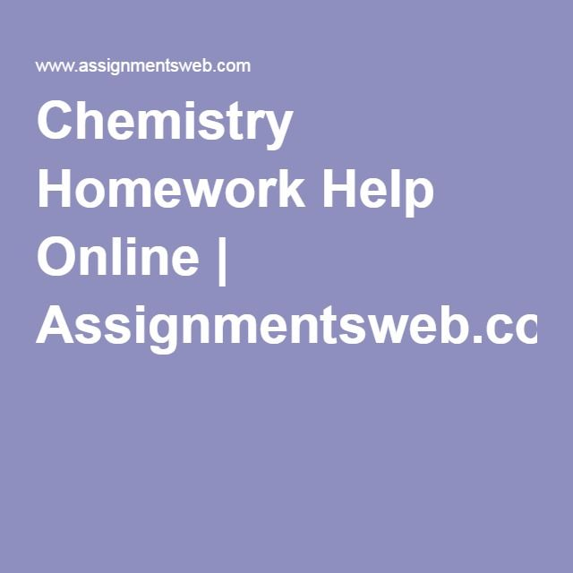 Help with homework assignments