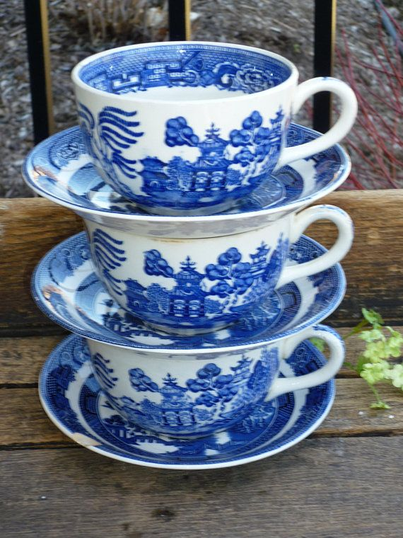 Spode BLUE ITALIAN Coffee Mug DESIGN INSIDE RIM   BEST    More Items Available