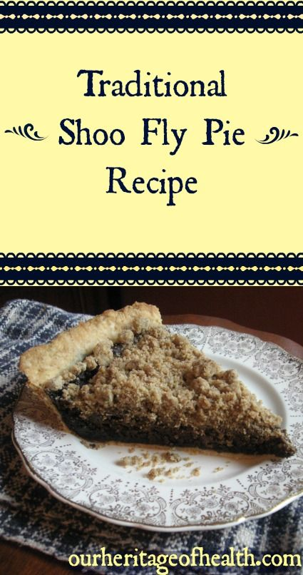 traditional shoo fly pie recipe | Our Heritage of Health