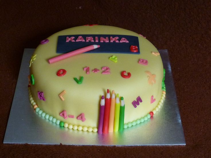 Birthday Cake - first day of school