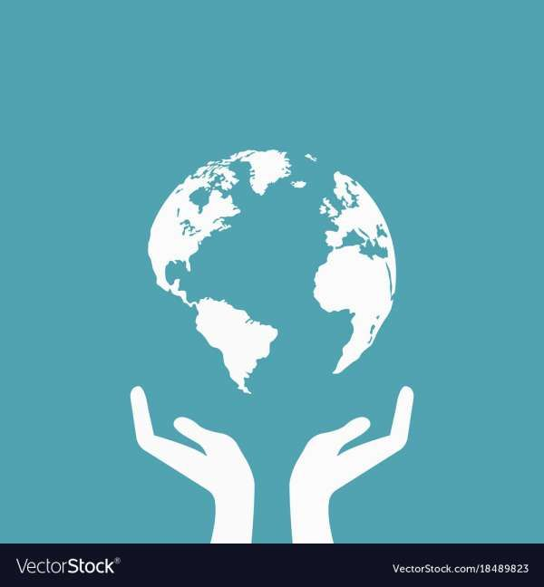 18 Hands Holding Earth Vector Earth Drawings Cartoon Styles Globe Drawing