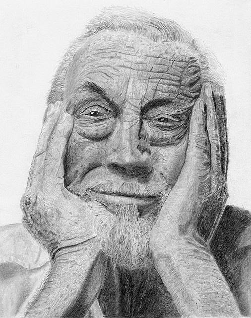my pencil drawing of director/actor John Huston