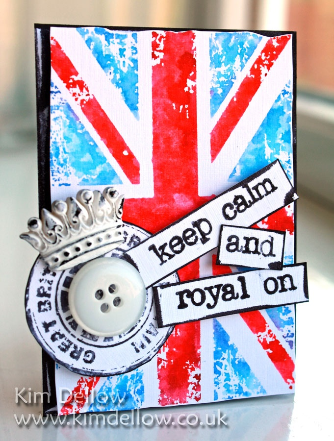 A ZIG Art and Graphic ATC - Right Royal Punk from www.kimdellow.co.uk