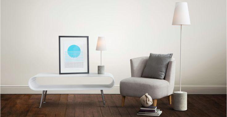 Ira, lampe de bureau, blanc   made.com