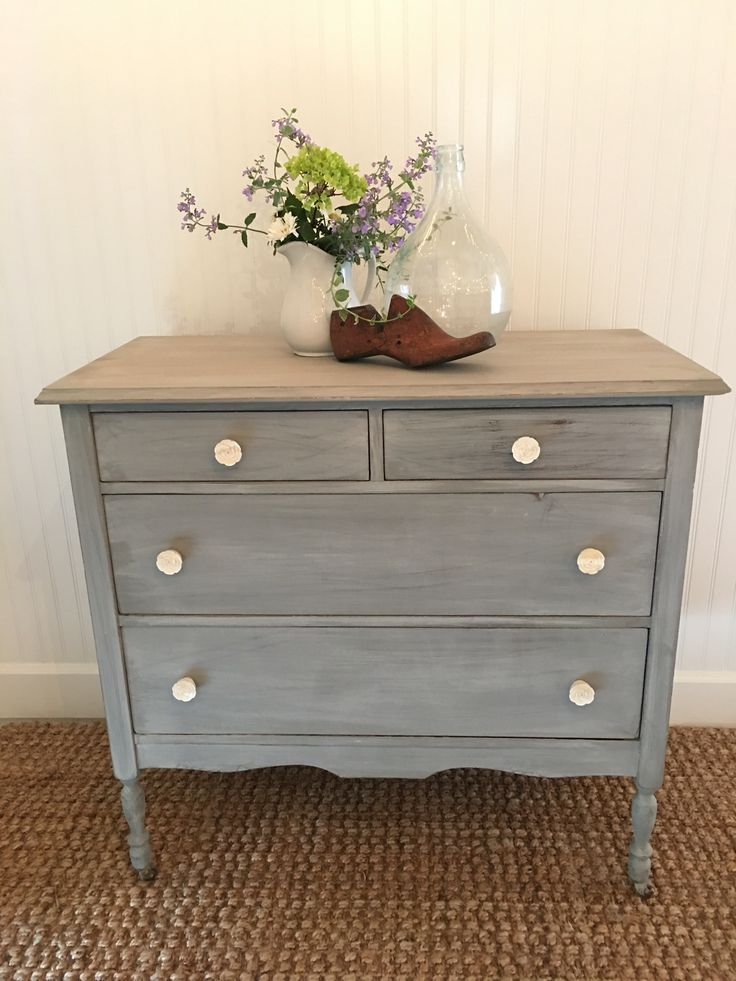 Antique dresser painted with miss mustard seed milk paint in Schloss
