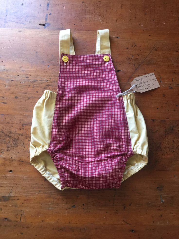 A personal favourite from my Etsy shop https://www.etsy.com/au/listing/514802523/romper-size-18-months-made-from-vintage