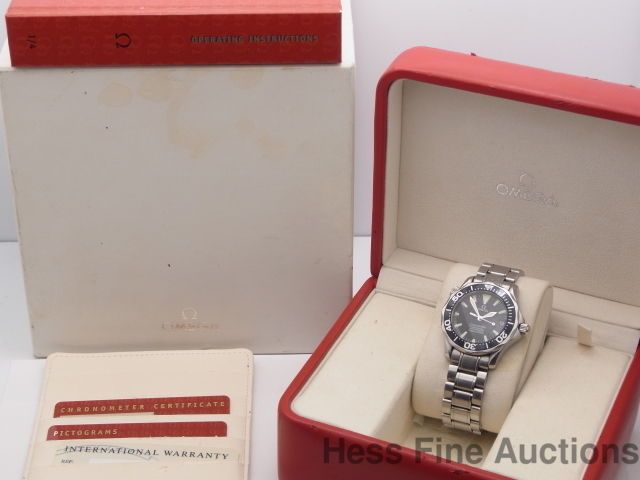 Genuine Midsize Omega Seamaster Professional Chronometer Divers Watch Box Papers #Omega #LuxurySportStyles