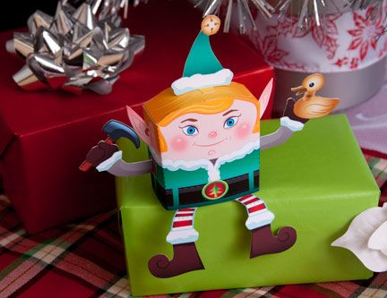 This little elf sits perfectly on a shelf. Make this paper craft to use as a Christmas decoration or give as a gift!