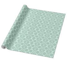 Dusty Green Circle Pattern Gift Wrap Paper