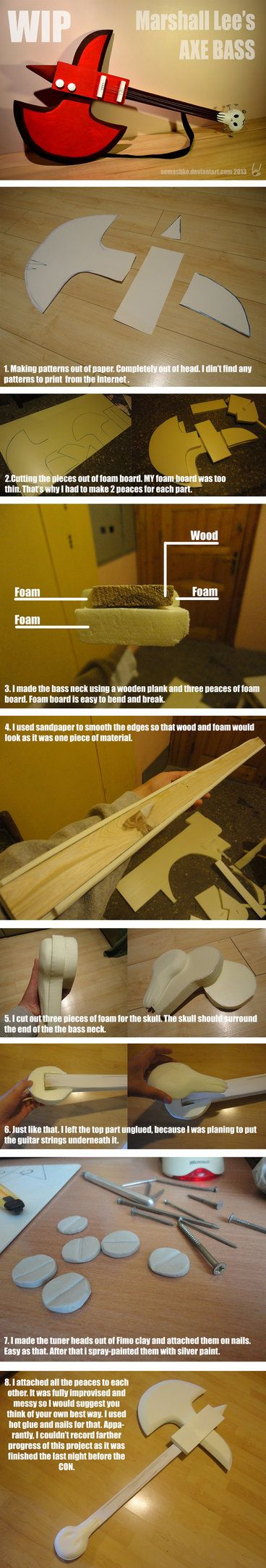 Marshall Lee's axe bass - WIP and HOW TO by Semashke