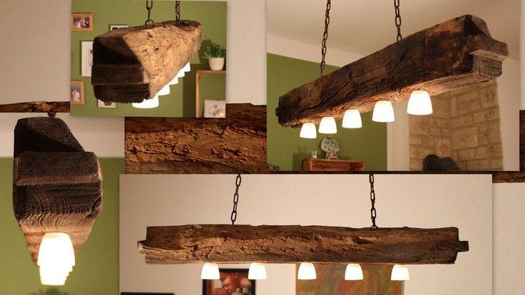 **Diese Lampe ist ein von mir in liebevoller Handarbeit gefertigtes Einzelstück.  Bei allen Bildern handelt es sich um Originalbilder.**  **Die Länge der Lampenaufhängung ist individuell wählbar...