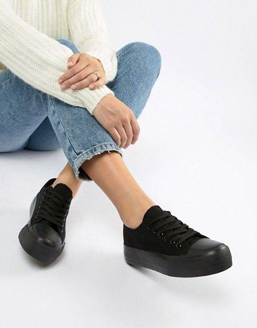 ba5d6d8f47e5 Кроссовки на шнуровке New Look