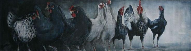 Nanouk Weijnen - Dieren en Kunst - beeldend kunstenares - olieverf schilderijen en bronzen beelden van dieren - Olieverf schilderijen
