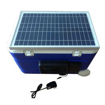 55L Solar Insulation Case with 60W Solar Panel Power