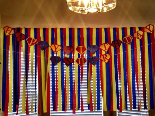 beautiful & beloved: Superman Birthday Party - banner