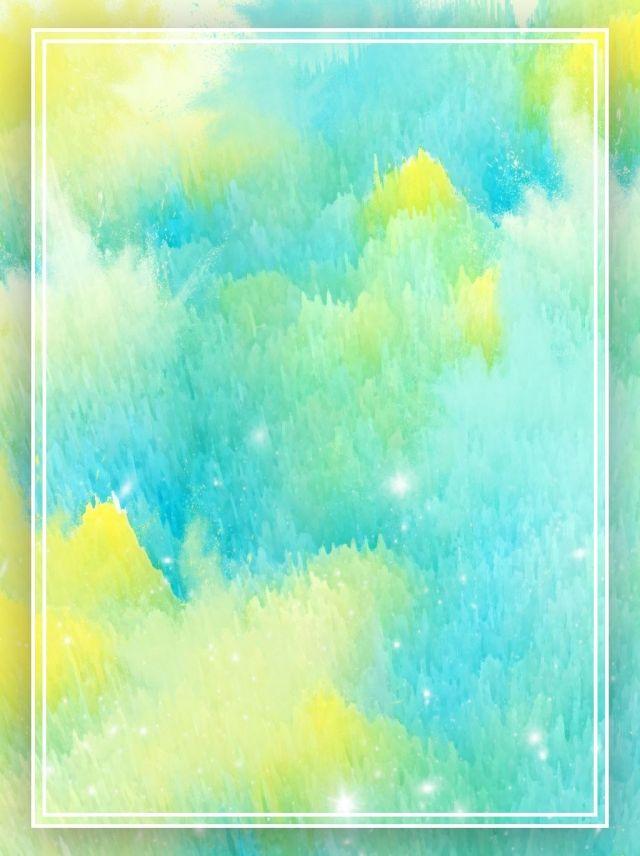 Fondo Radial De Acuarela Azul Degradado Amarillo Watercolor