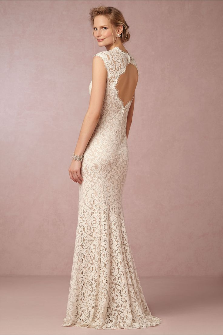 Bhldn S Tadashi Shoji Marivana Lace Gown In Ivory Natural Wedding Dress