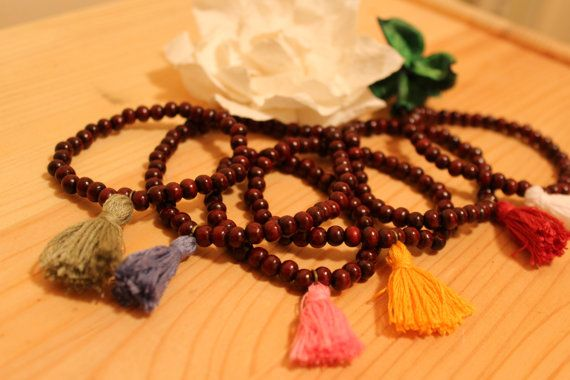 Sandalwood Tassel Bracelet by JennyferPicolo on Etsy