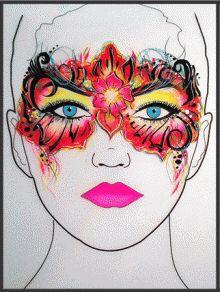 Картинки по запросу one stroke face painting designs