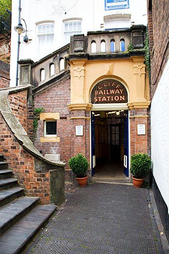 Lower Cliff Railway Station Bridgnorth Shropshire England, via Flickr.