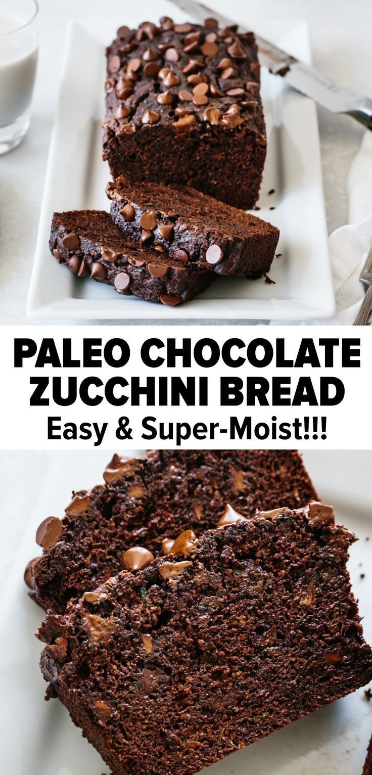 The Best Chocolate Zucchini Bread That S Gluten Free Dairy Free And Paleo It S Moist Sc Paleo Chocolate Zucchini Bread Gluten Free Chocolate Paleo Chocolate