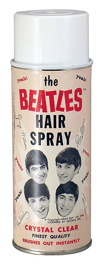 The Beatles Hair Spray (1964), WOW! These Guys Could Sell ANYTHING! ⚡⚡, Funny Vintage Advertising.                                                                                                                                                     More