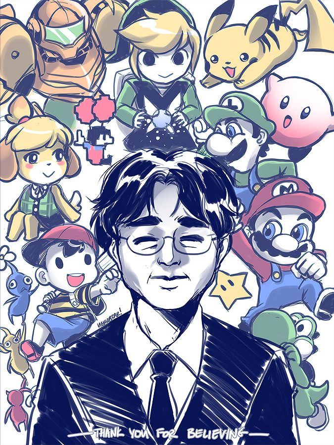 Thank you for creating a legacy that will continue in your stead. #SatoruIwata #Nintendo In memory of Satoru Iwata.