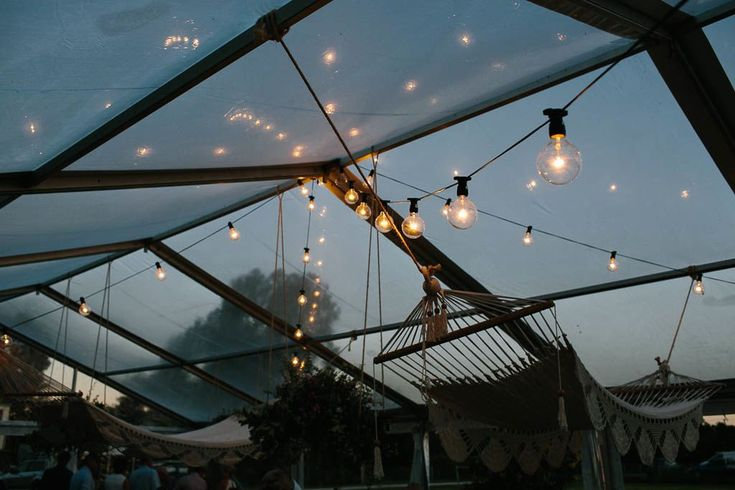 festoon lighting, full clear marquee, south coast weddings, south coast party hire