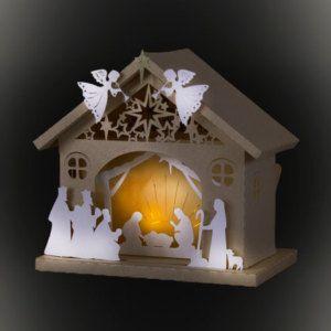 3D Nativity Barn template