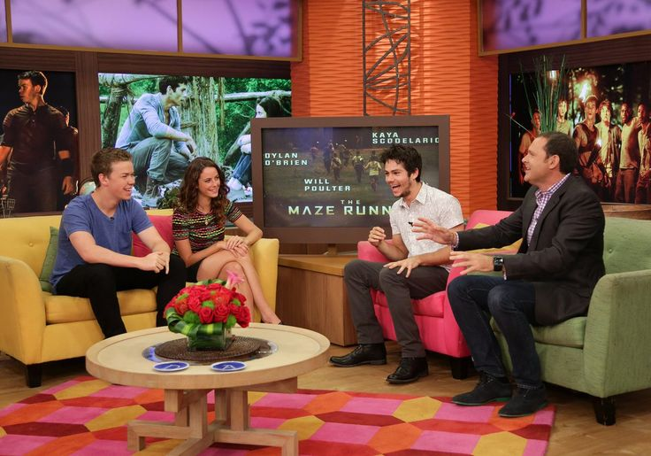 #TBT to Will Poulter, Kaya Scodelario and Dylan O'Brien on Despierta America August 2014 #MazeRunner