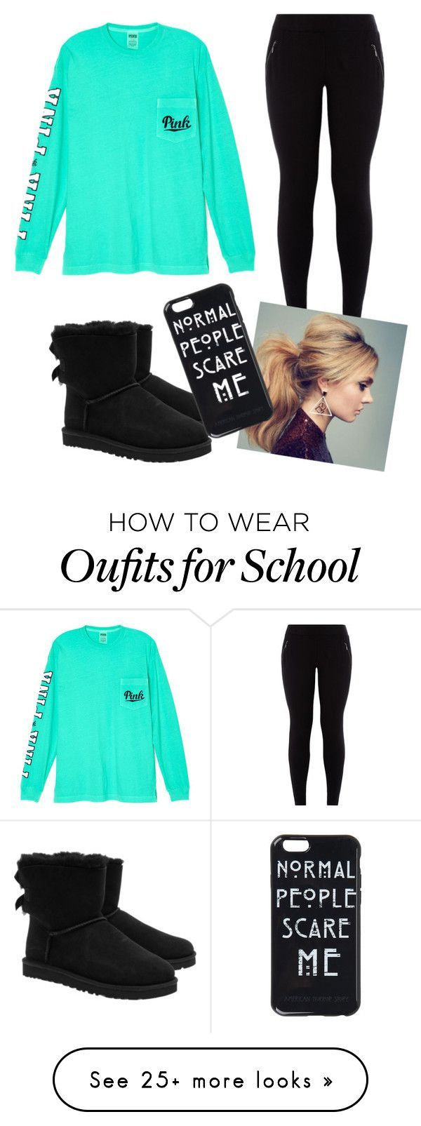 """Comfy school outfit"" by ronnieradkeisbabe on Polyvore featuring Victoria's Secret and UGG Australia"