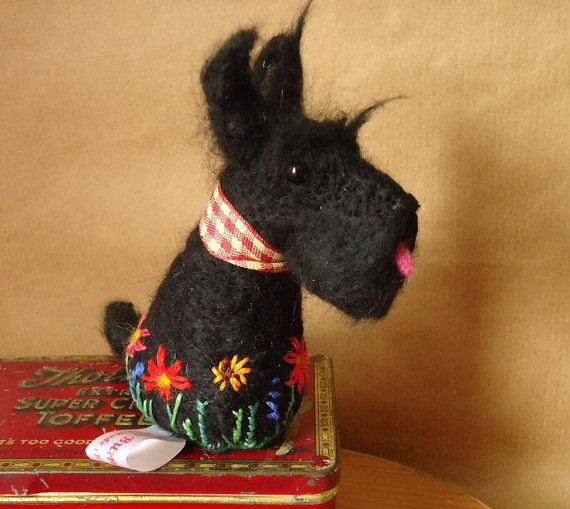 Needle felted Scottie dog by Miss Bumbles