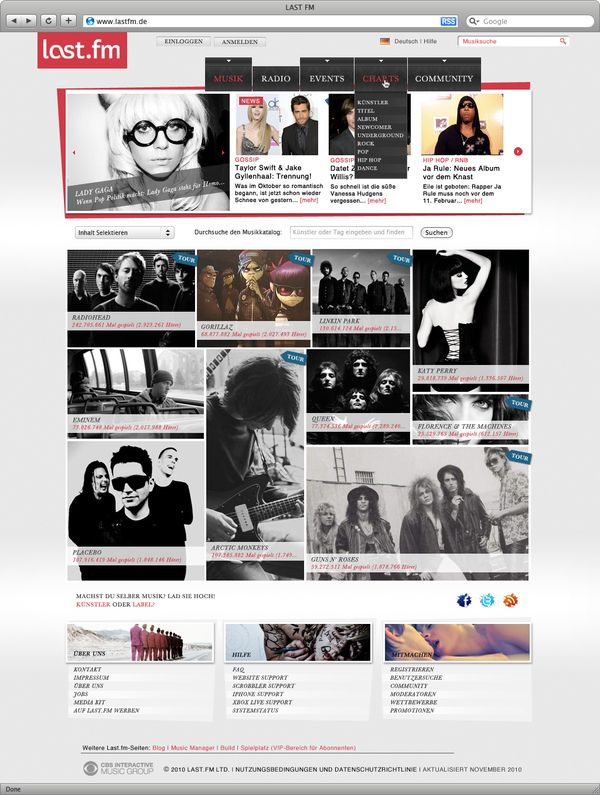 Last FM - Myspace / Fusion by Linus Lang, via Behance