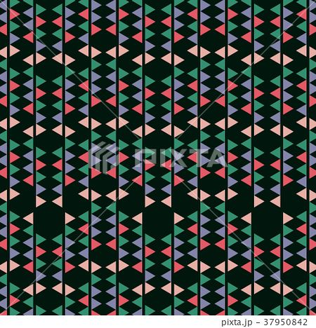 Abstract geometric retro vector image pattern